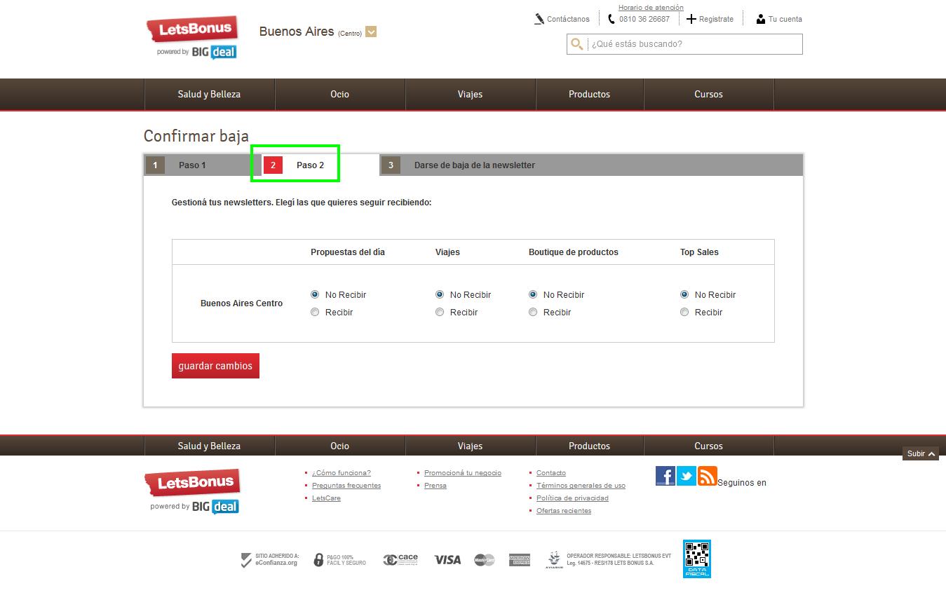 Captura de pantalla del sitio web.